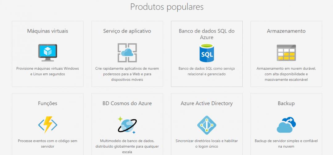 Azure - Produtos